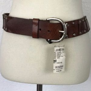 Rampage Brown Leather Belt